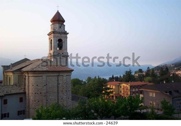 A sight from the beautiful San Zeno, Italy