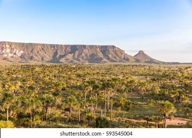 Sight of the Espirito Santo Ridge in Jalapao - Tocantins - Brazil