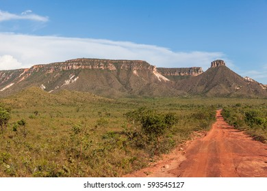 Sight of the Espirito Santo Ridge in Jalapao - Tocantins - Brazil