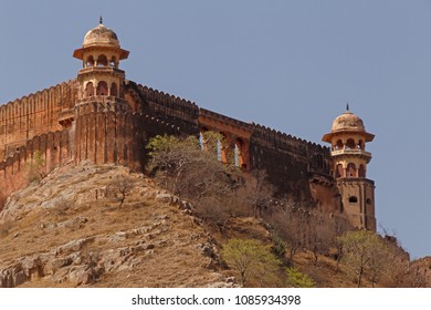 sight of Jaigarh Fort from Amer Fort in Jaipur, India