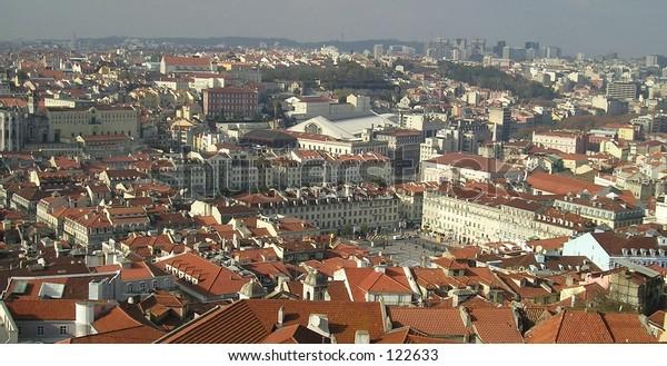 A sight of Lisbon from J Jorge Castle