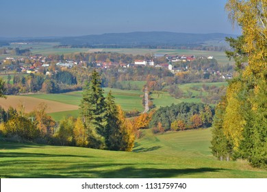 A sight over Dobersberg from a nearby hill