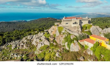 Sight of the Sanctuary of the Peninha in Sintra Portugal