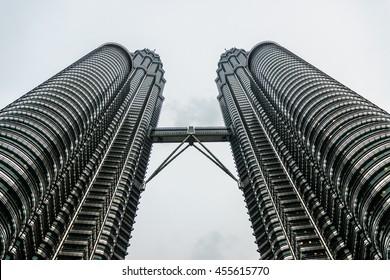 sight of the towers Petronas in kuala Lumpur, Malaysia