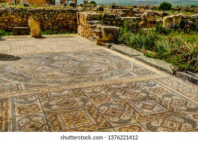 Sights around the ruins of Volubilis near Meknes in Morocco