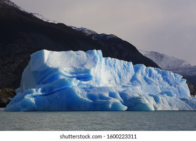 Sightseeing Ràos de Hielo Cruise ship boat near glaciers Upsala and Spegazzini in Patagonia, Argentina, South America