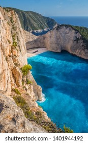 Sightseeing at the shipwreck beach in Zante, Greece
