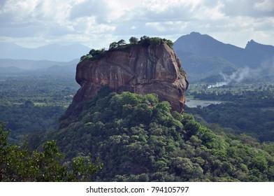 Sigiria / Sri Lanka - November 2017: View from Lion Rock to Pidurangala Rock