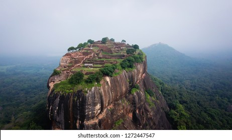 Sigiriya - an ancient stone fortress and a palace built on a granite rock