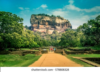 Sigiriya the iconic ancient rock fortress in Sri Lanka