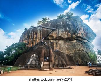 Sigiriya the Lion rock in Sri Lanka