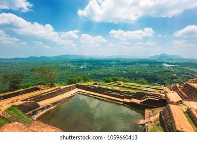Sigiriya Rock or Lion Rock is an ancient fortress near Dambulla, Sri Lanka.