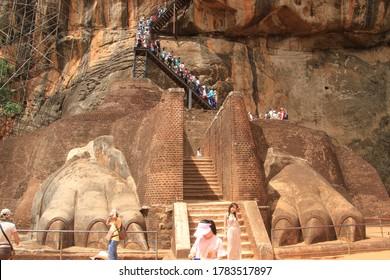 Sigiriya/Sri Lanka-2017 Aug. 5:Wordl heritage, Sigiriya Rock. Way and View.
