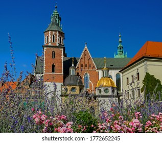 Sigismund Tower at the Cathedral in the Wawel Royal Castle grounds in Krakow, Poland