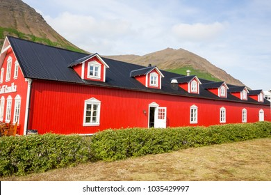 Siglufjordur, Iceland - August 25, 2017: colored building