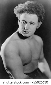 Sigmund 'Zishe' Breitbar, the 'Strongest Man in the World' in 1924. The Polish-born circus performer was vaudeville strongman and Jewish folklore hero. Breitbart was played by Finnish strongman Jouko
