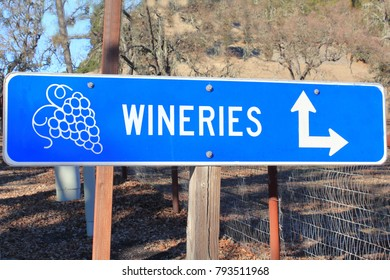 Sign along the road in the California wine country.
