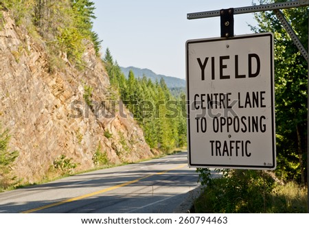 Sign Alongside Road Cautions Travelers About Stock Photo
