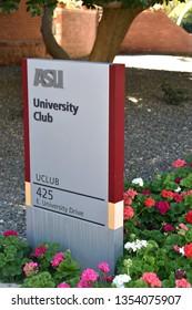 Sign for ASU University Club at Arizona State University Tempe Arizona 3/16/19