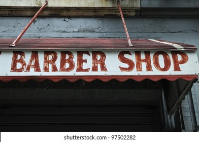 Sign, Barber Shop, Harlem, New York, USA