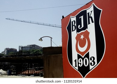 The sign of Besiktas JK outisde of  stadium in the Besiktas district of Istanbul, Turkey on Dec. 4, 2014