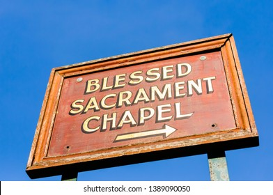 Sign for the Blessed Sacrament Chapel