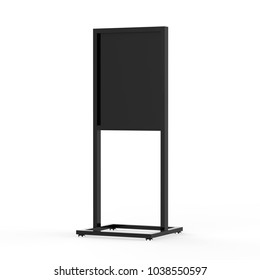 Sign Board Display Mock up, 3D Illustration