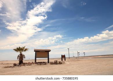 Sign Board on Desert