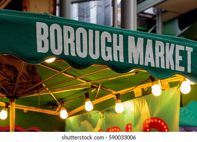 Sign of borough Market in London