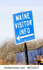 sign in Calais, Maine, USA