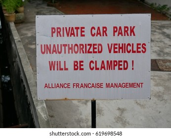 sign of car park
