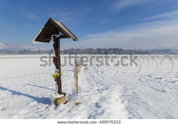 Sign of a Christ, Medvode - Slovenia