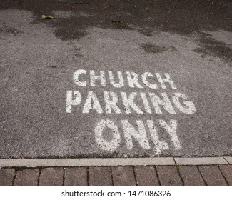 Sign for church parking only