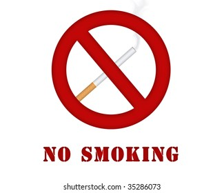 Sign with a cigarette, symbolizing prohibition of smoking.