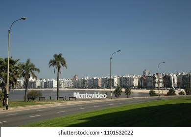 Sign of the city of Montevideo