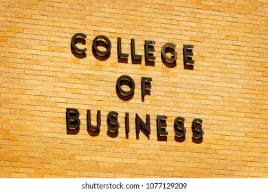 Sign for college of business for education