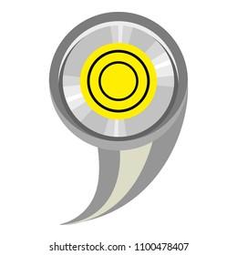 Sign comma ruler icon. Cartoon illustration of sign comma ruler icon for web