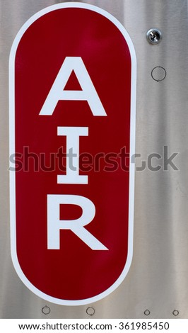 Sign Compressed Air Pump Gas Station Stock Photo Edit Now