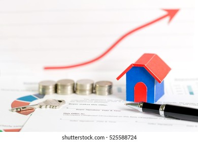 Sign contract loans for real estate concept, buying a new home.