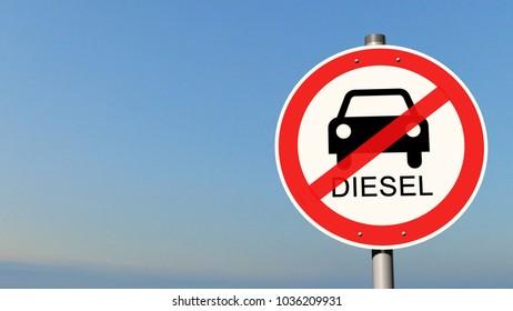 sign diesel driving ban