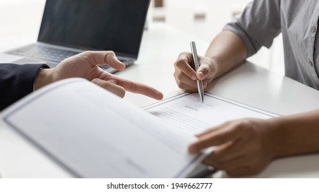 Sign a document, Signing of employment contract documents, Applicants are legally selected to work in the company, Employment and selection of new staff representatives concept.