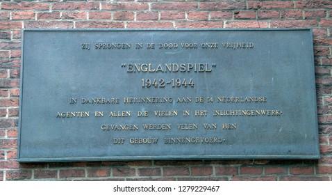 Sign Englandspiel At The Binnenhof At Den Haag The Netherlands 2018