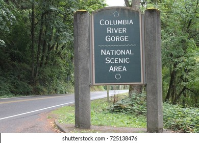 sign entering Columbia National Gorge Natural Scenic Area