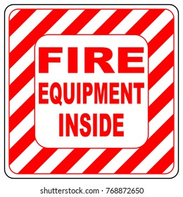 Sign of the fire extinguisher in , isolated over white