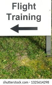A sign for a flight training school in the UK
