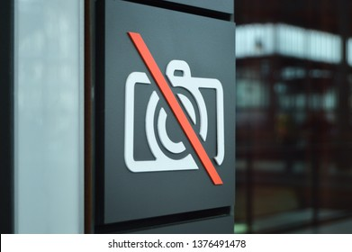 Sign of forbidden taking photos