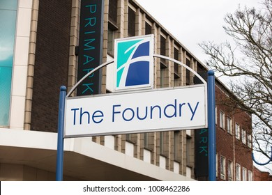 Sign for the The Foundry Shopping Centre - Scunthorpe, Lincolnshire, United Kingdom - 23rd January 2018