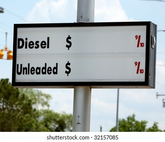 Sign for gas or diesel prices