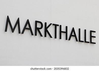 Sign of German Austrian Market Hall