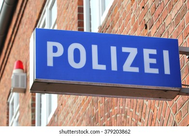 sign of a German police station (translation: police)